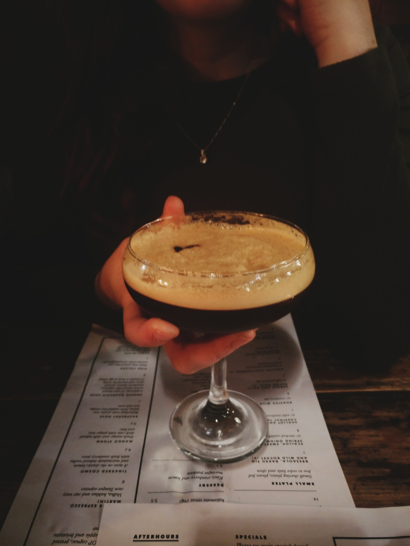 espresso martini at tamper at sellers wheel
